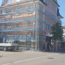 Malergerüst inkl. Dachsanierung - Spenglerlauf