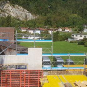 Gerüstbau Sennwald - Fassadengerüst - Gerüst - Treppenturm