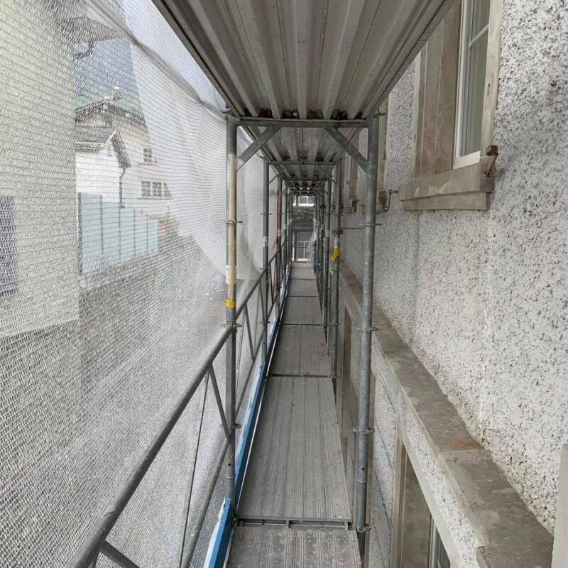 Kantonalbank - Fassadenrenovation - Fassadengerüst - Isufi