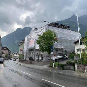 Kantonalbank - Glarus - Gerüst - mieten - Isufi